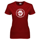Ladies Cardinal T Shirt-Iowa Wild Seal One Color