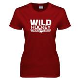 Ladies Cardinal T Shirt-Wild Hockey