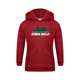 Youth Cardinal Fleece Hoodie-Hockey Lives Here Cityscape