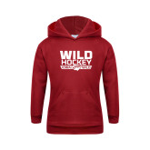 Youth Cardinal Fleece Hoodie-Wild Hockey