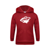 Youth Cardinal Fleece Hoodie-Bear Head
