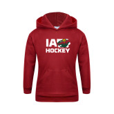 Youth Cardinal Fleece Hoodie-IA Hockey w State