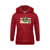 Youth Cardinal Fleece Hoodie-Iowa Wild Block Design