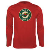 Performance Cardinal Longsleeve Shirt-Secondary Mark