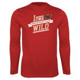 Syntrel Performance Cardinal Longsleeve Shirt-Iowa Wild Banner Design