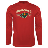 Performance Cardinal Longsleeve Shirt-Iowa Wild Arched