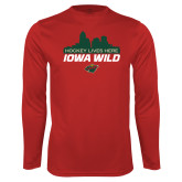Performance Cardinal Longsleeve Shirt-Hockey Lives Here Cityscape