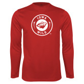 Performance Cardinal Longsleeve Shirt-Iowa Wild Seal One Color