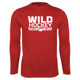 Performance Cardinal Longsleeve Shirt-Wild Hockey