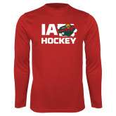 Syntrel Performance Cardinal Longsleeve Shirt-IA Hockey w State