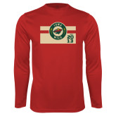 Performance Cardinal Longsleeve Shirt-Iowa Wild Block Design