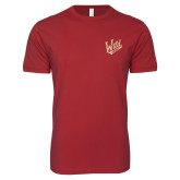 Next Level SoftStyle Cardinal T Shirt-Primary Mark
