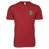 Next Level SoftStyle Cardinal T Shirt-Secondary Mark