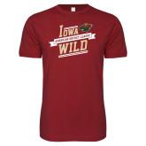 Next Level SoftStyle Cardinal T Shirt-Iowa Wild Banner Design