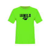 Youth Neon Green T Shirt-IAWILD w Bear Head