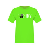 Youth Neon Green T Shirt-IA WILD HKY Tone