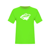 Youth Neon Green T Shirt-Bear Head - One Color