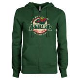ENZA Ladies Dark Green Fleece Full Zip Hoodie-5 Years