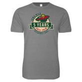 Next Level SoftStyle Heather Grey T Shirt-5 Years