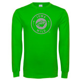 Lime Green Long Sleeve T Shirt-Bear Head Tone