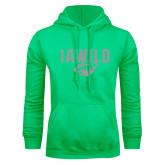 Lime Green Fleece Hoodie-IAWILD w Bear Head