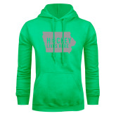Lime Green Fleece Hoodie-Hockey Lives Here State - One Color