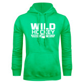 Lime Green Fleece Hoodie-Wild Hockey Banner - One Color