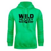Lime Green Fleece Hoodie-Wild Hockey Banner - One Color