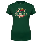 Ladies Performance Dark Green Tee-5 Years