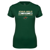 Ladies Performance Dark Green Tee-Hockey Lives Here