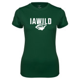 Ladies Performance Dark Green Tee-IAWILD