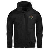 Black Charger Jacket-Iowa Wild w Bear Head