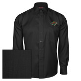 Red House Black Herringbone Long Sleeve Shirt-Iowa Wild w Bear Head