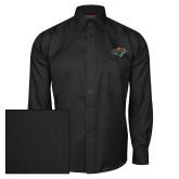 Red House Black Herringbone Long Sleeve Shirt-Iowa Wild w Bear Head