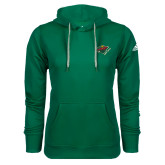Adidas Climawarm Dark Green Team Issue Hoodie-Iowa Wild w Bear Head