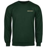 Dark Green Fleece Crew-Iowa Wild Flat