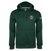 Under Armour Dark Green Performance Sweats Team Hood-Secondary Mark