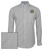 Mens Charcoal Plaid Pattern Long Sleeve Shirt-Secondary Mark