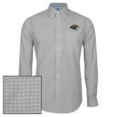 Mens Charcoal Plaid Pattern Long Sleeve Shirt-Iowa Wild w Bear Head