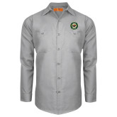 Red Kap Light Grey Long Sleeve Industrial Work Shirt-Secondary Mark