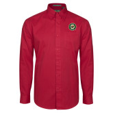 Cardinal Twill Button Down Long Sleeve-Secondary Mark