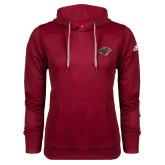 Adidas Climawarm Cardinal Team Issue Hoodie-Iowa Wild w Bear Head