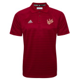 Adidas Climalite Cardinal Jacquard Select Polo-Primary Mark