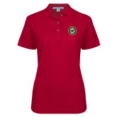 Ladies Easycare Cardinal Pique Polo-Secondary Mark