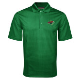 Dark Green Mini Stripe Polo-Iowa Wild w Bear Head