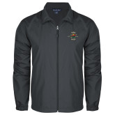 Full Zip Charcoal Wind Jacket-Embroidery Iowa Wild Est. 2013