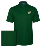 Dark Green Performance Fine Jacquard Polo-Primary Mark