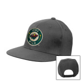 Charcoal Flat Bill Snapback Hat-Secondary Mark