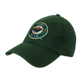 Dark Green Twill Unstructured Low Profile Hat-Secondary Mark