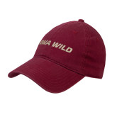 Cardinal Twill Unstructured Low Profile Hat-Iowa Wild Flat